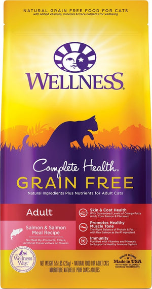 Wellness Complete Health Grain Free Adult Salmon & Salmon Liver Adult Dry Cat Food