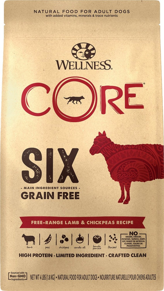 Wellness CORE SIX Free-Range Lamb with Chickpeas Recipe Dry Dog Food