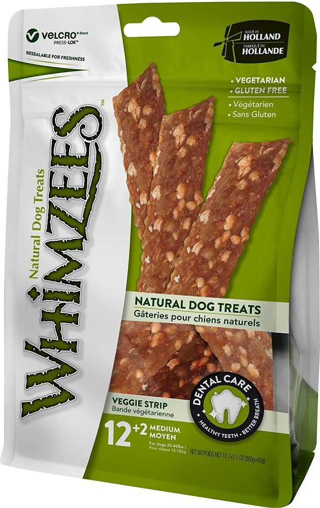 Whimzees Veggie Strip Dental Chew Dog Treats