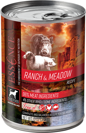 Essence Grain Free Ranch & Meadow Recipe Canned Dog Food