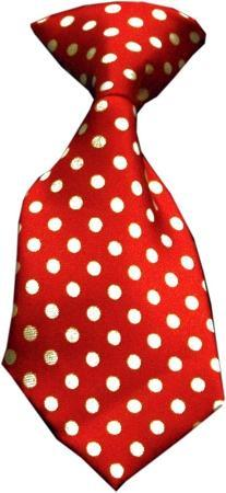 Swiss Dot Red Necktie
