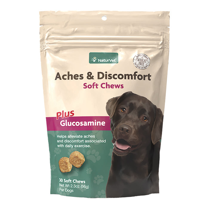 NaturVet Aches and Discomfort Plus Melatonin Soft Chews for Dogs