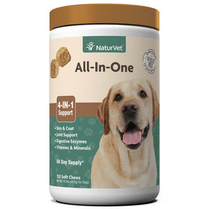 NaturVet  All-in-One 4-IN-1 Support Dog Multivitamin Dog Soft Chews