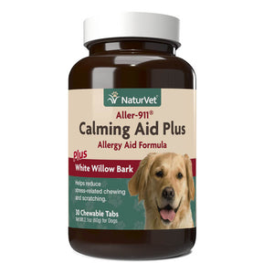 NaturVet Aller911 Calming Aid Plus Allergy Aid Chewable Tabs for Dogs