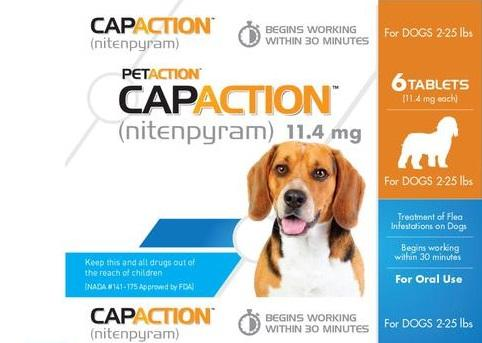 CapAction Flea Tablets for Dogs 2-25 Lbs