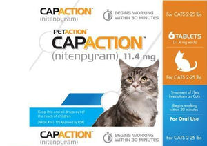 Capaction Flea Tablets for Cat 2-25 Lbs