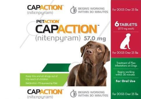CapAction Flea Tablets for Dogs over 25 Lbs