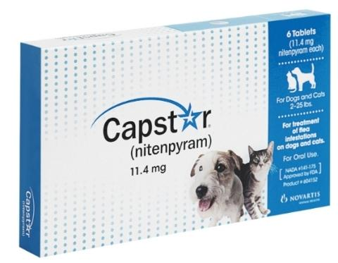 Capstar Flea Tablets for Cats & Dogs 2-25 Lbs