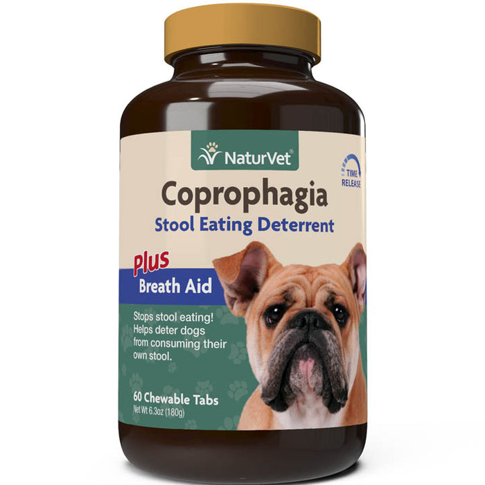 NaturVet Coprophagia Stool Eating Deterrent Chewable Tablets for Dogs Time Release