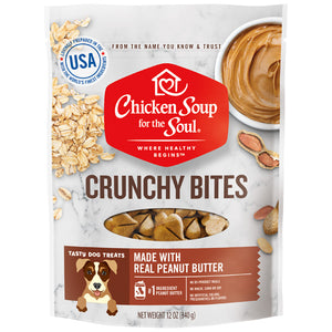 Chicken Soup For The Soul Crunchy Bites Peanut Butter Dog Treats