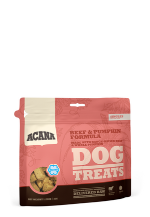 Acana Singles Beef & Pumpkin Freeze Dried Dog Treats