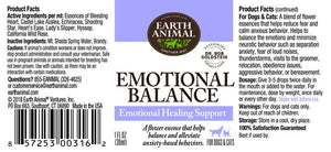 Earth Animal Emotional Balance Supplement for Dogs and Cats
