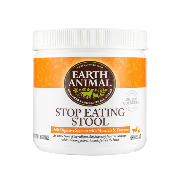 Earth Animal Stop Eating Stool Supplement for Dogs & Cats