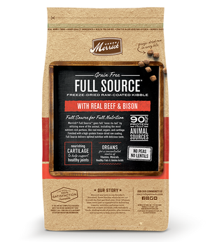 Full Source Grain Free Raw-Coated Kibble with Beef & Bison Dog Food