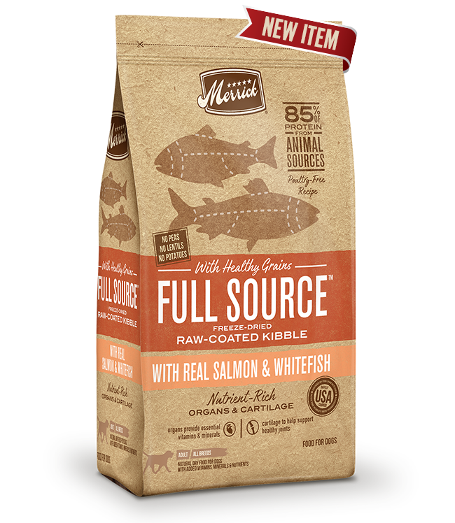 Full Source with Healthy Grains Raw-Coated Kibble with Salmon & Whitefish Dog Food