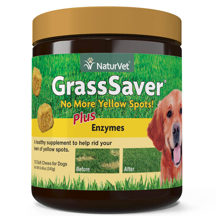 NaturVet GrassSaver Plus Enzymes Soft Chews for Dogs