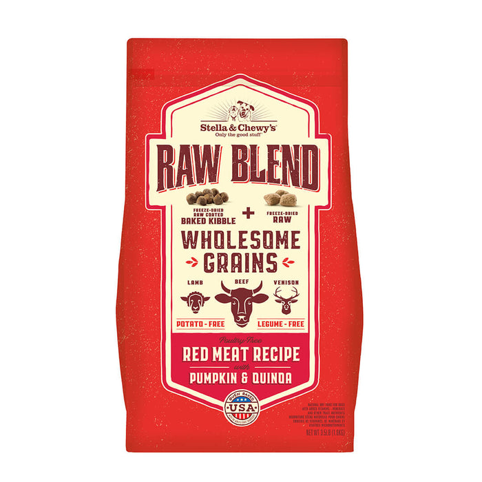 Stella & Chewy's Raw Blend Wholesome Grains Red Meat Dry Dog Food, 22-lb