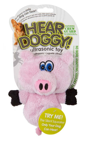 Hear Doggy Silent Squeaker Mini Pig Dog Toy