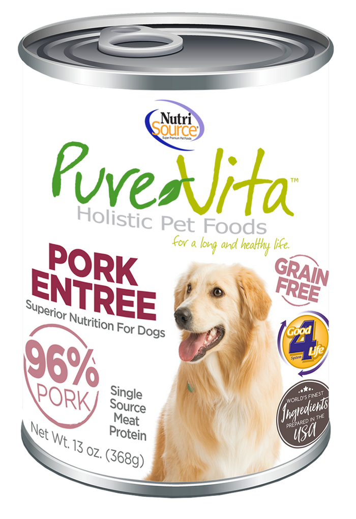 PureVita Grain Free 95% Pork Entree for Dogs