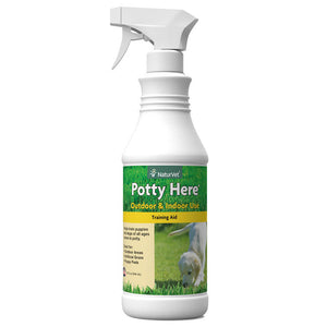 NaturVet Potty Here Training Aid Spray for Puppies and Dogs