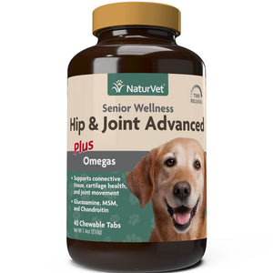 SNaturVet Senior Wellness Hip and Joint Chewable Tabs Supplement for Dogs