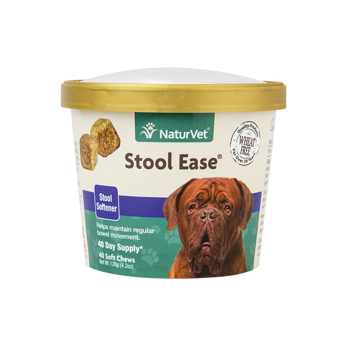 NaturVet Stool Ease Stool Softener for Dogs, 40 ct Soft Chews