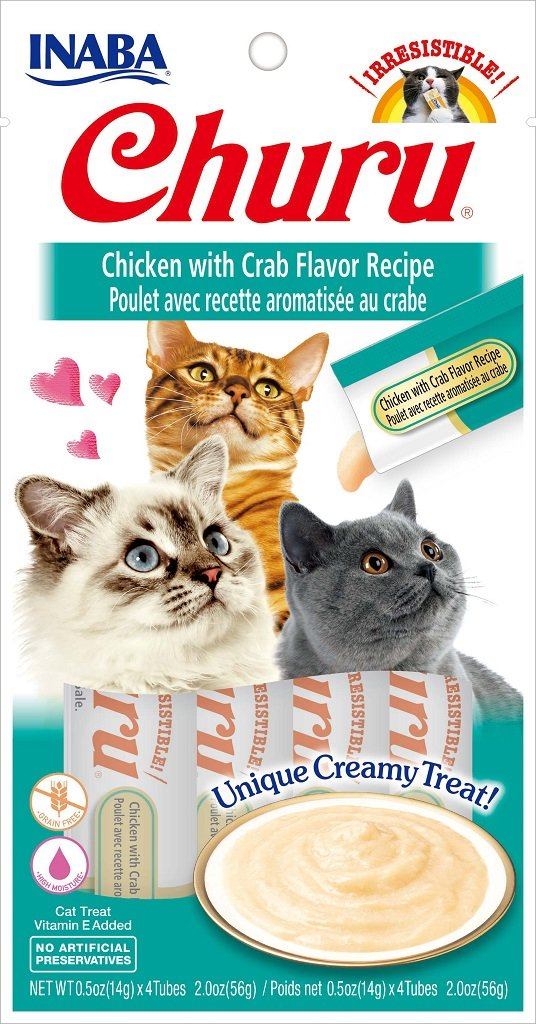 Inaba Churu Purée Chicken With Crab Cat Treat