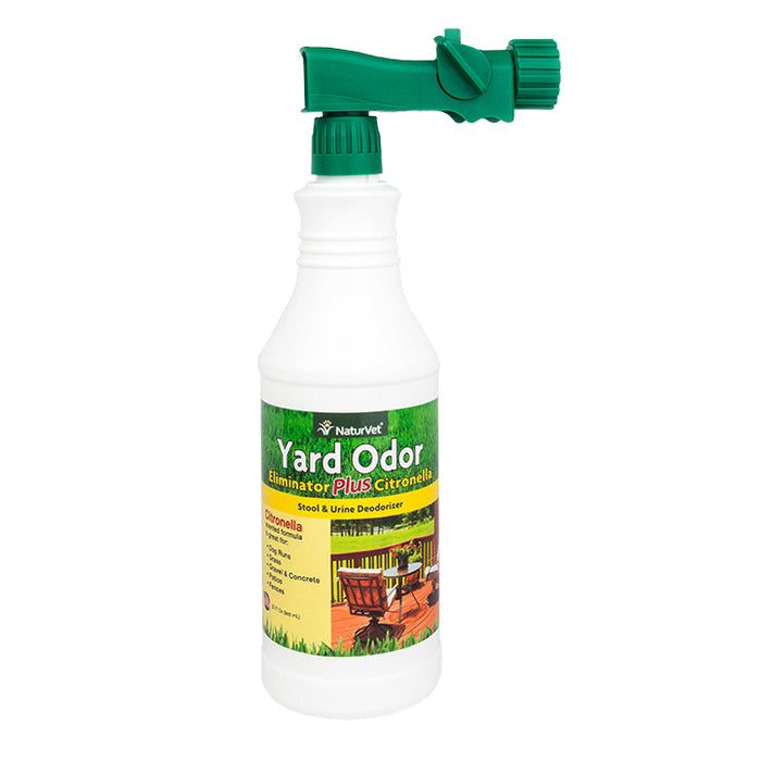 NaturVet Yard Odor Eliminator Plus Citronella, Stool and Urine Deodorizer, 32 fl oz