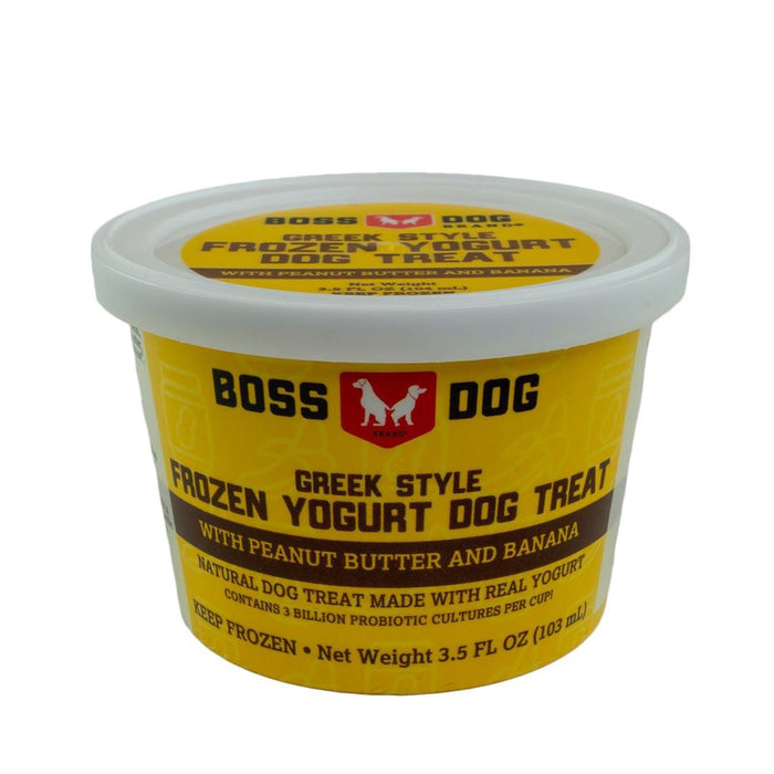 Boss Dog Greek Style Frozen Yogurt- Peanut Butter & Banana