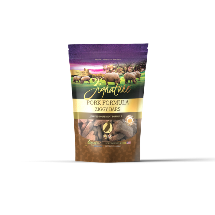 Zignature Ziggy Bars Pork Dog Treats