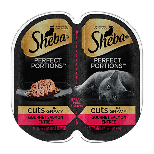 Sheba Perfect Portions Cuts in Gravy Gourmet Salmon Entree Wet Cat Food