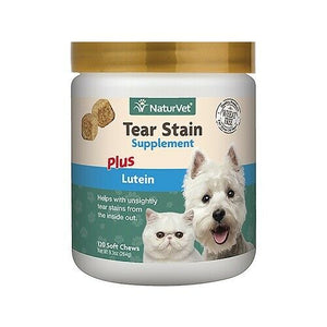 NaturVet Tear Stain Supplement Plus Lutein Soft Chews