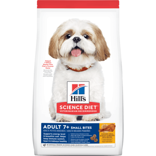 Hill's Science Diet Senior 7+ Small Bites Chicken Meal, Barley & Brown Rice Recipe Dry Dog Food