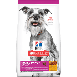 Hill's Science Diet Senior 7+ Small Paws Chicken Meal, Barley & Brown Rice Recipe Dry Dog Food