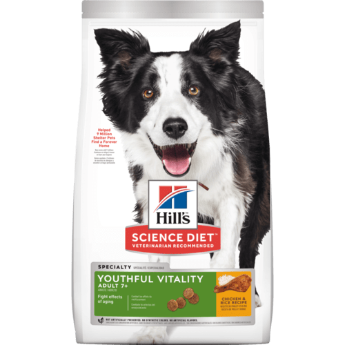 Hill's Science Diet Senior 7+ Youthful Vitality Chicken & Rice Recipe Dry Dog Food