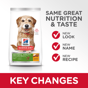 Hill's Science Diet Senior 7+ Youthful Vitality Small & Mini Chicken & Rice Recipe Dry Dog Food