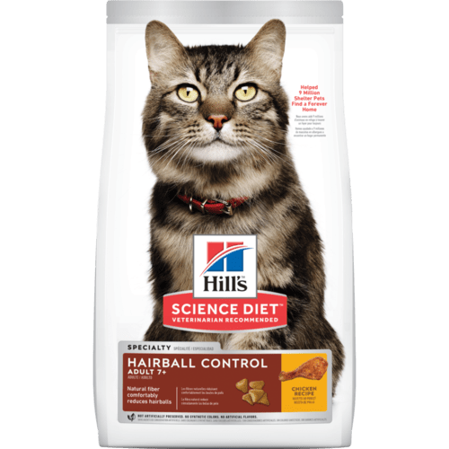 Hill's Science Diet Senior 7+ Hairball Control Chicken Recipe Dry Cat Food