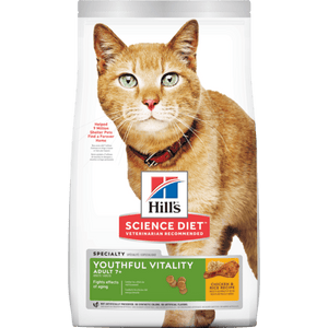 Hill's Science Diet Senior 7+ Youthful Vitality Chicken & Rice Recipe Dry Cat Food