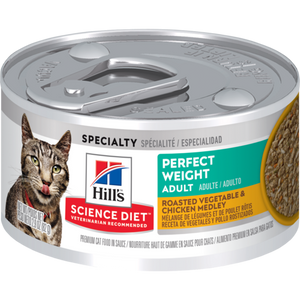 Hill's Science Diet Adult Perfect Weight Roasted Vegetable & Chicken Medley Cat Can
