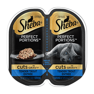Sheba Perfect Portions Cuts in Gravy Tender Trout Entree Wet Cat Food