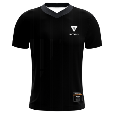 V-Neck Pro Jersey - Black - We Are Nations