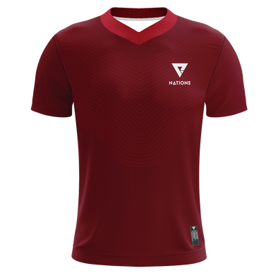 Wave V-Neck Pro Jersey - Red - We Are Nations
