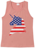 Unicorn Crew Neck Tank Top Tee Cami for Little Girl Pink 318126