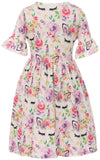 Unicorn Print Slip-on Dress for Little Girl Lavender 501294