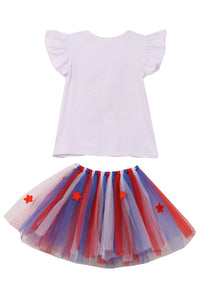 Unicorn Print Tee T-Shirt Top for Big Girl Red Royal 501414