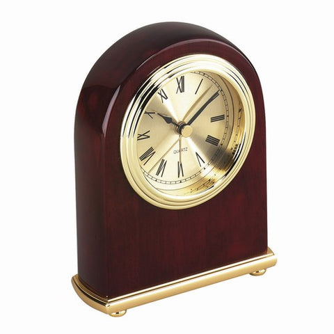 Personalized Free Engraving Cherry Wood Finish Desk Clock - GiftsEngraved