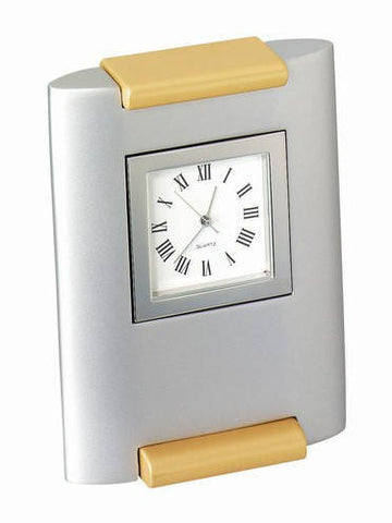Personalized Free Engraving Silver Desk Clock Anniversary Wedding Retirement Graduation Teacher Coach Office Boss Award Gifts for Him Her