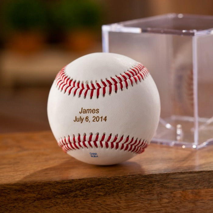 Personalized Baseball with Stand Free Engraving - GiftsEngraved