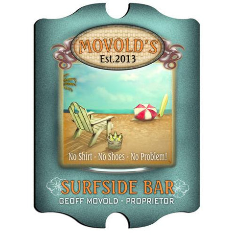 Vintage Series Personalized Signs  - SURFSIDE - GiftsEngraved