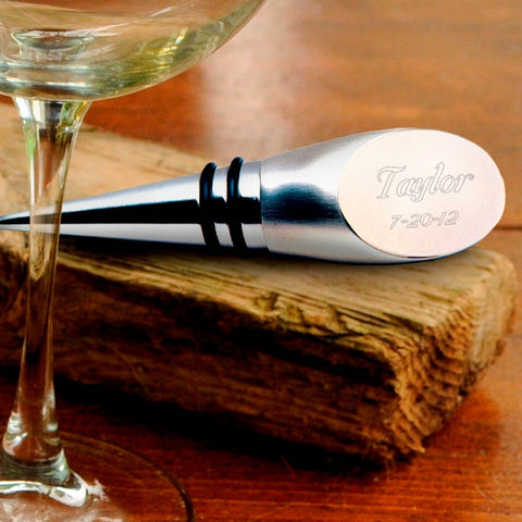 Personalized Wine Bottle Stopper Free Engraving - GiftsEngraved